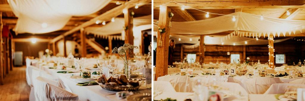 Dukning till bröllopsfest