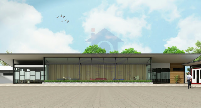 Desain Eksterior Office Container Nganjuk