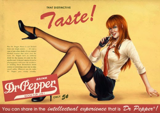 I had this one in mind after I saw another fanart of Kurisu advertising Dr. Pepper