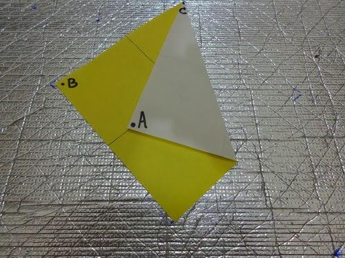 ... kertas lipat seperti gambar e dan lakukan pelipatan kertas seperti