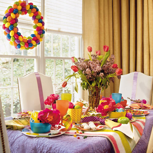 Decorate a easter spring party table simple home decoration - Easter table decorations meals special ...