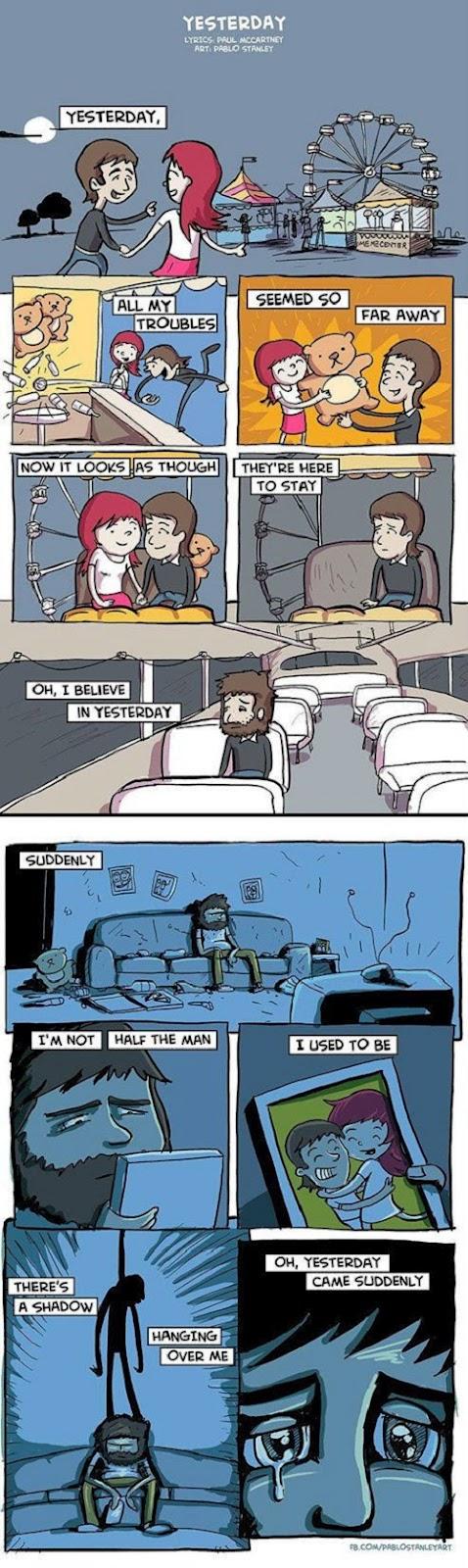 Yesterday de los Beatles versión Comic