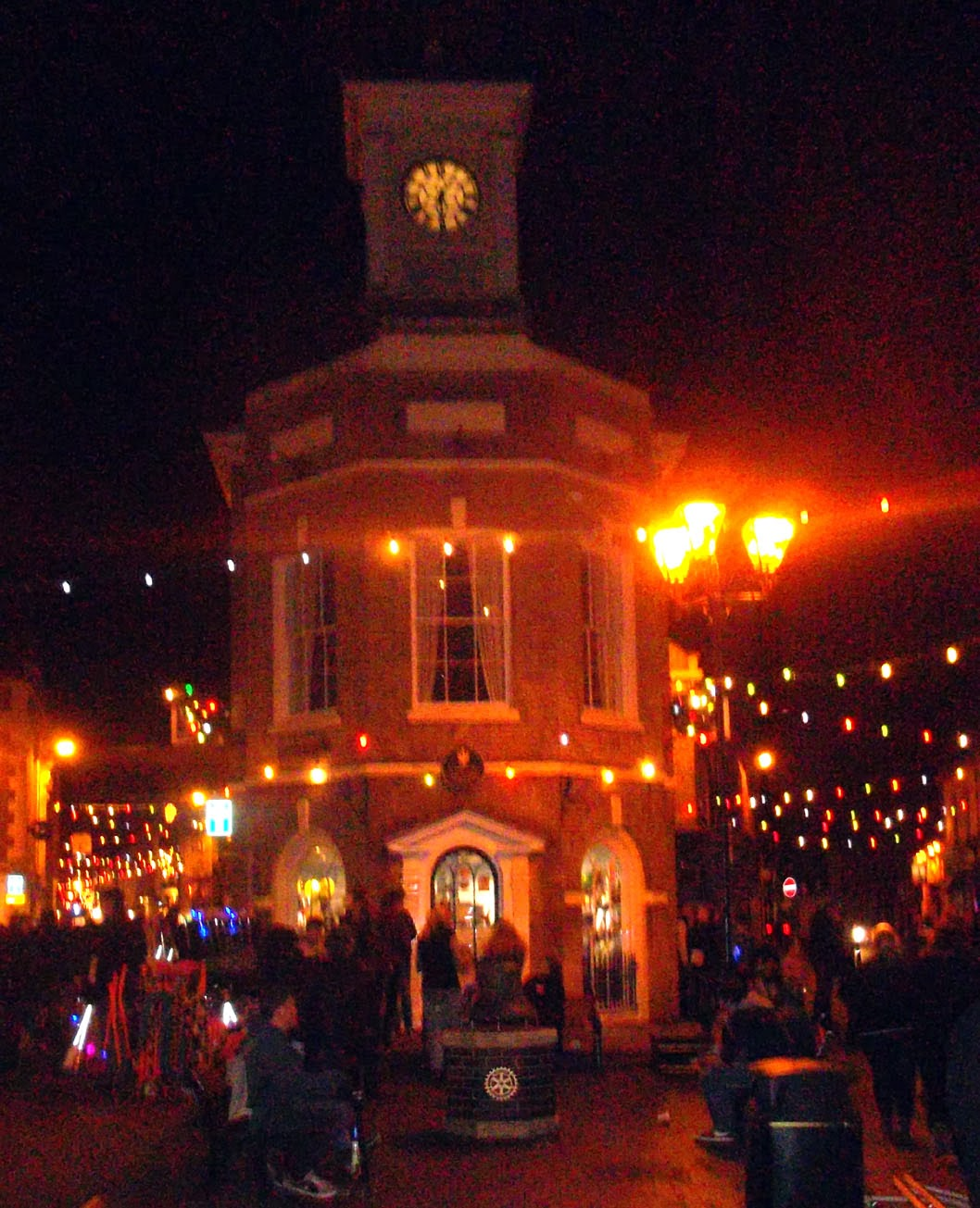Brigg Christmas Lights 2013 featuring the Buttercross