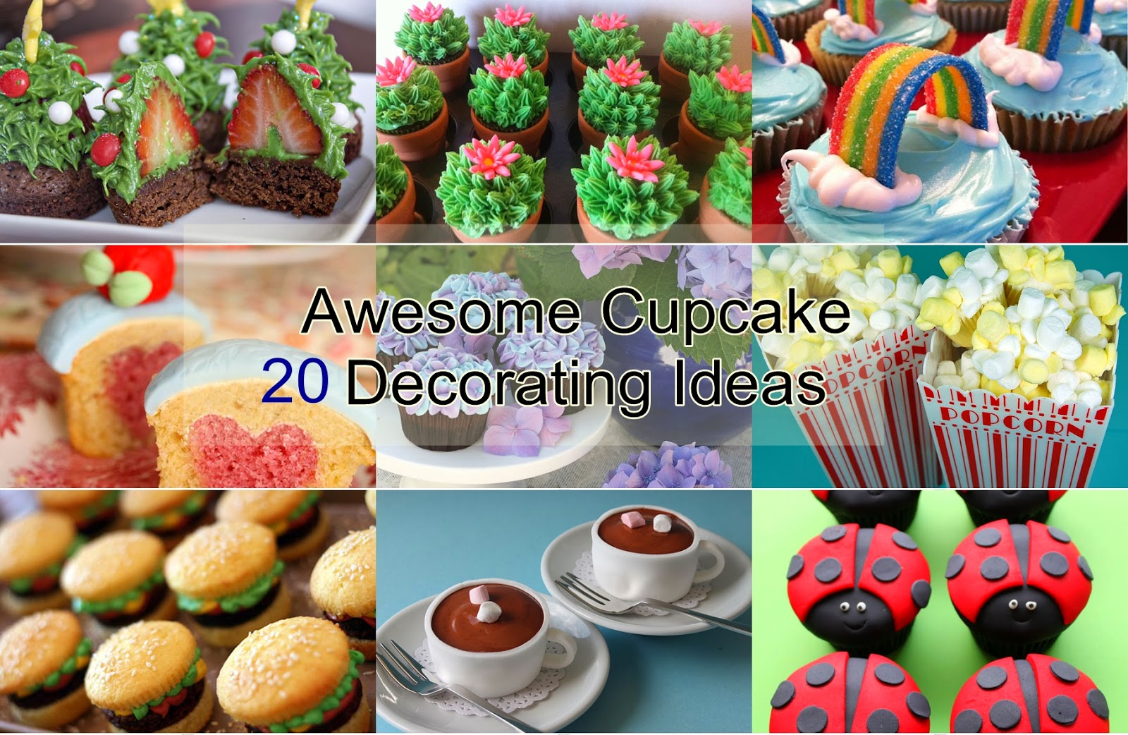 20 Awesome Cupcake Decorating Ideas - HANDY DIY