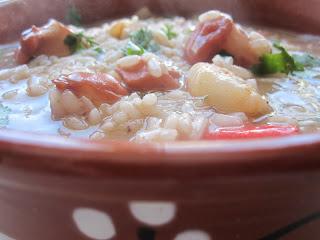 arroz malandrinho de potas polvo