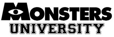 Monsters University logo Pixar