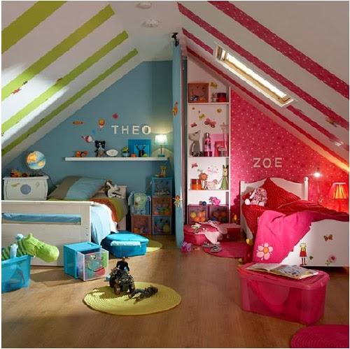 Dormitorio infantil mixto dormitorios compartidos para for Dormitorio varon