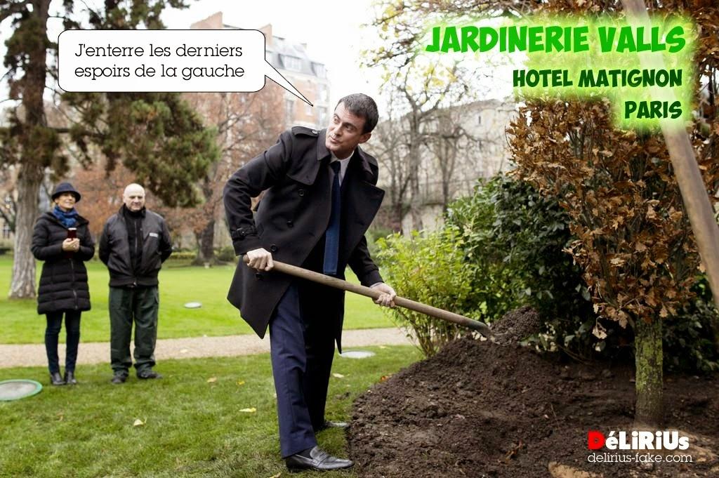 Valls, un chêne, des coups de pelle et un message