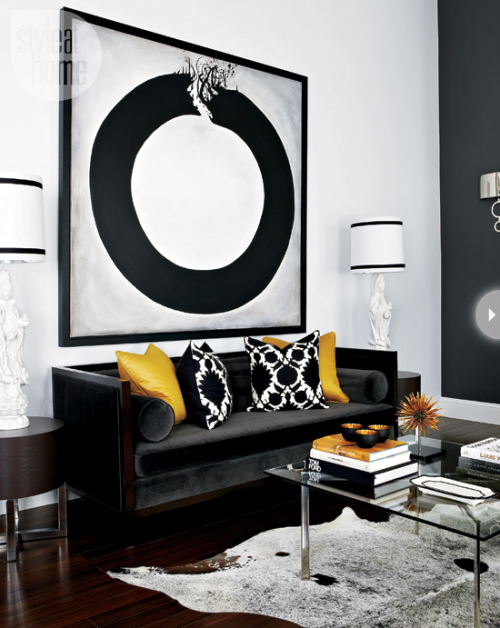 Black White And A Little Pop Of Yellow 10 Fabulous