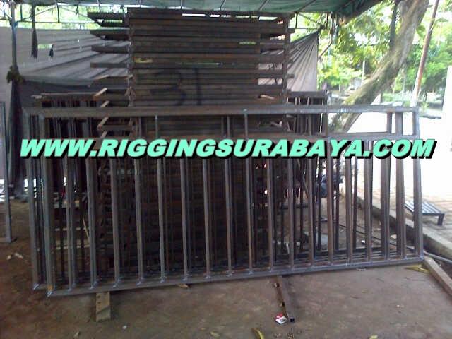jasa pembuatan pagar barikade panggung rigging