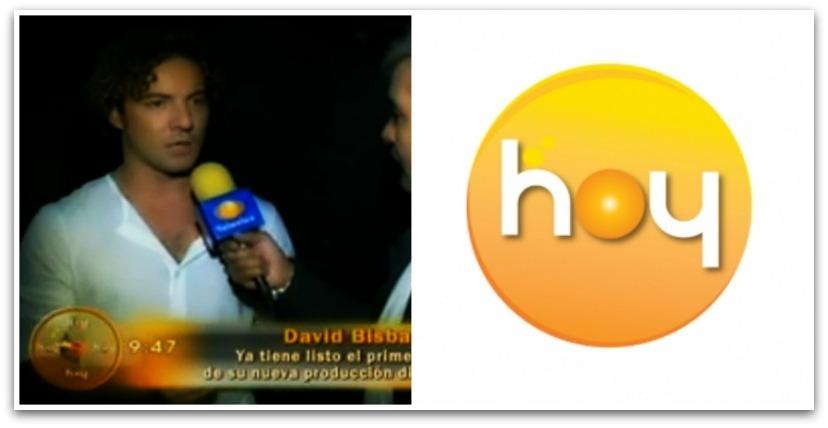 el productor de #db2014! @davidbisbal habla para Hoy de la canción de ...