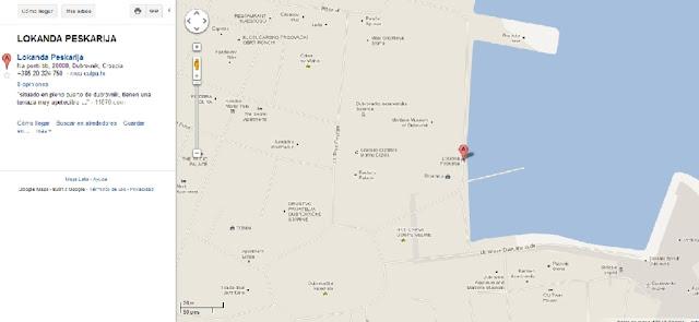 Mapa de Restaurante Lokanda Pescarija en Dubrovnik