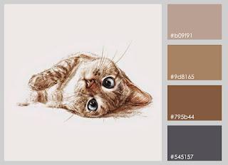 gato tumbado ilustracion