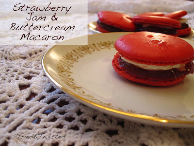 Strawberry Jam & Buttercream Macaron | Tried & Twisted