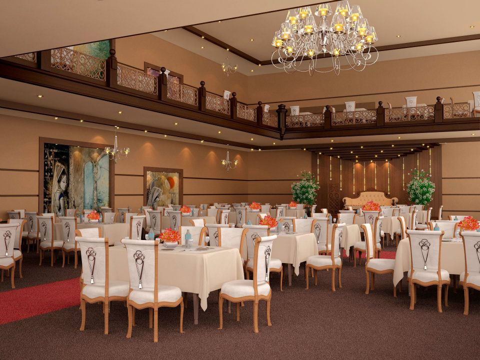 Marriage Hall Front Elevation Designs : Casatreschic interior marriage banquet hall d front