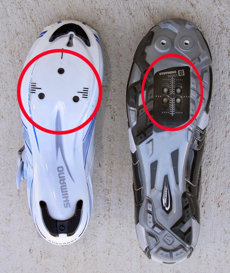 Tipos de calzado ciclista: carretera o montaña