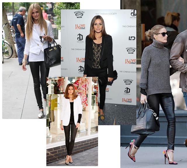 Looks de Olivia con leggins de cuero