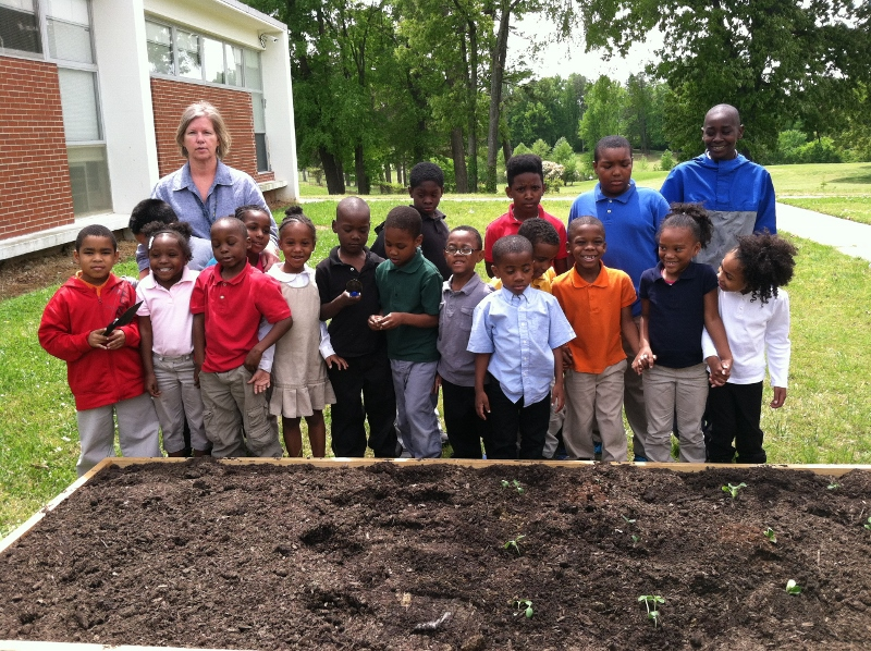 Sharing Our Guilford County School Gardens Gillespie Park Elementary School Is Up And Gardening