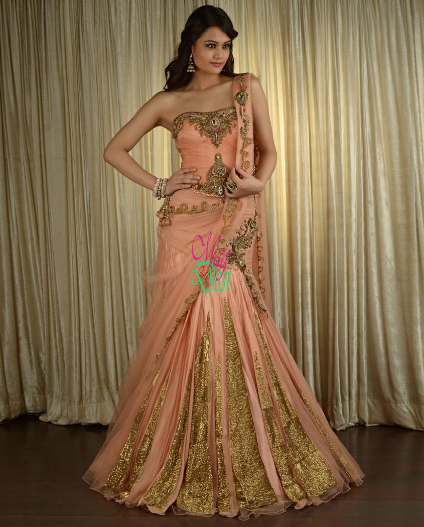 The wedding lehenga choli designs by pam mehta desiemag for Design wedding dress online