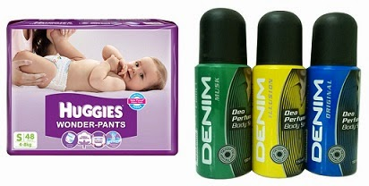 Flat 25% Off on Huggies Diapers & Denim Deo Combo Set of 3 for Rs.212 Only @ Flipkart (Price Valid for Today Only)
