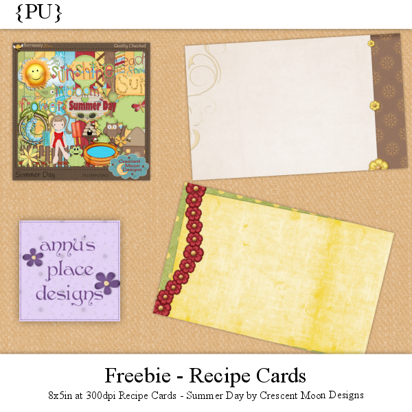Recipe Cards Freebie