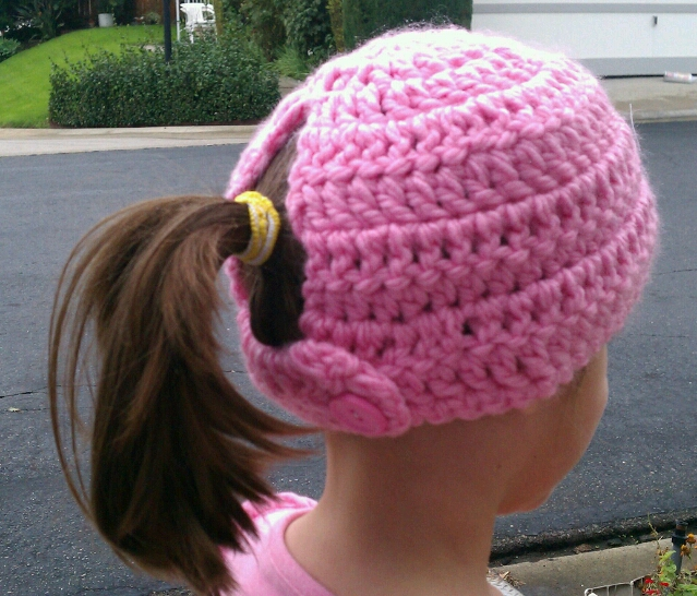 Tw-In Stitches: Toasty Warm Ponytail Hat Pattern - Just $1!