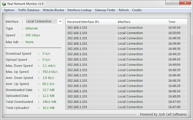 Real Network Monitor Portable full screenshot