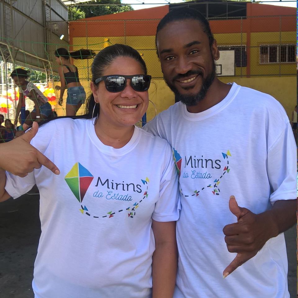 Cintia Cunha e MC Guelo, idealizadores, fundadores e diretores do Projeto Mirins do Estado