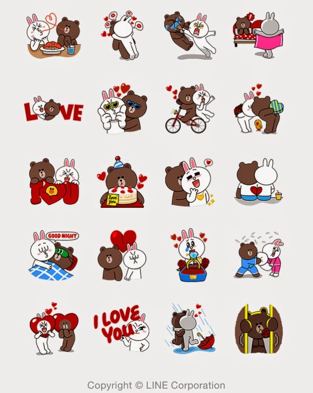 LINE Stickers Community: Free -Brown & Cony's Thrilling ...