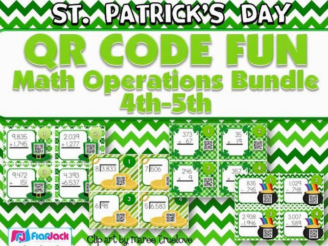 http://www.teacherspayteachers.com/Product/St-Patricks-Day-Math-Operations-QR-Code-Bundle-1119710