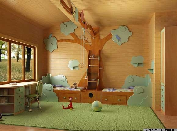 Children s playroom home decorating ideas - How to decorate kids playroom ...