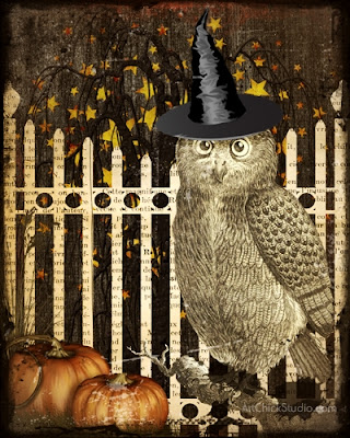 Happy Owl-oween Art
