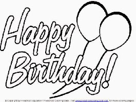 Happy Birthday Coloring Page Card