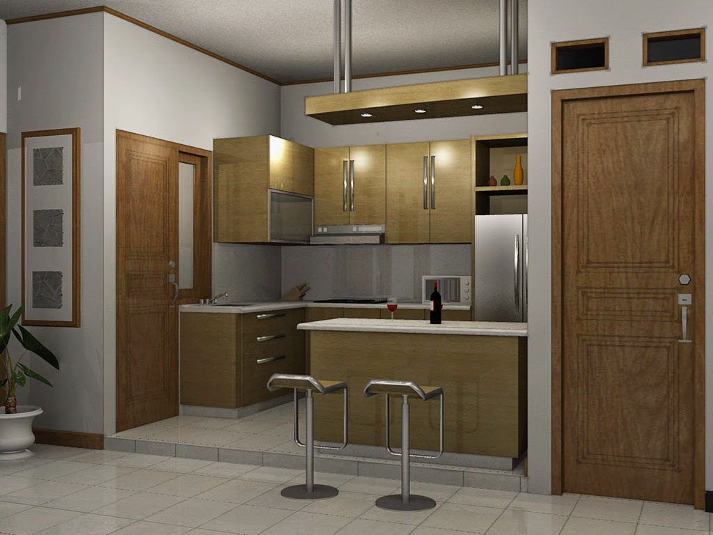 contoh bentuk dapur kecil minimalis rumah minimalis