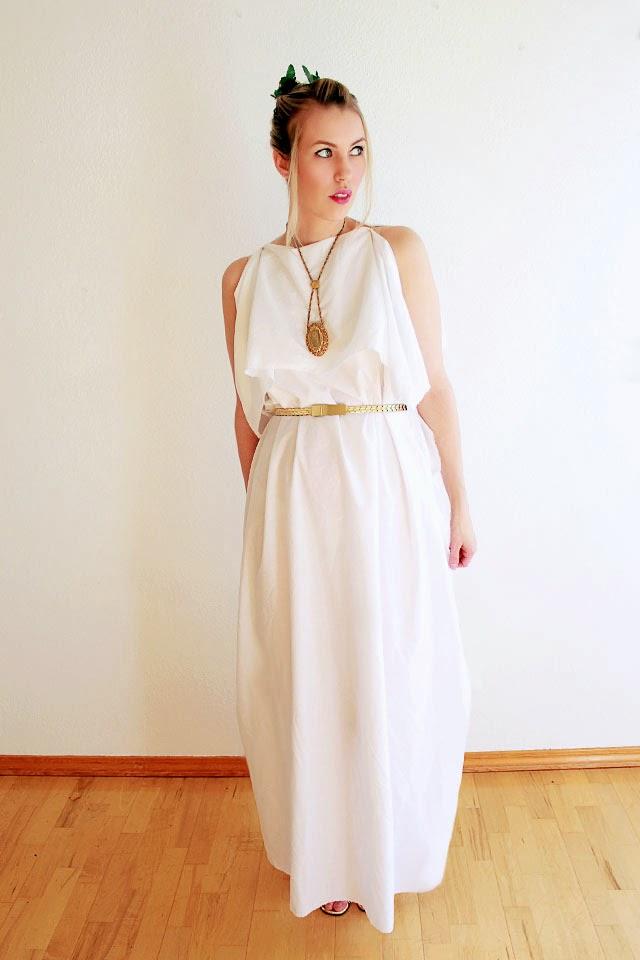 Chiton diy wear the canvas easy last minute costume greek goddess