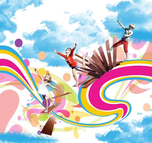 kids-graphic-design-manipulation-flying