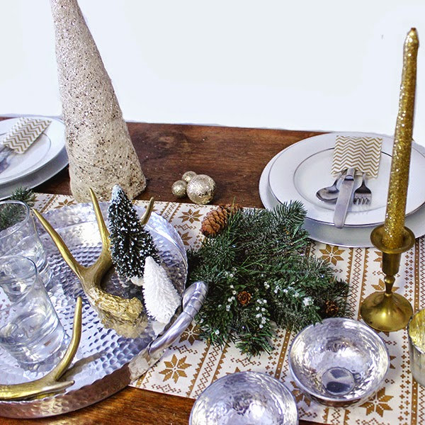 La Petite Fashionista: Rustic Glam Holiday Tablescape