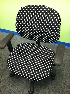 photo of after chair polka dots.