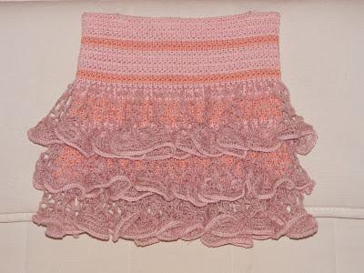 Юбка крючком для девочки.  Вязание юбки с воланами из Dantela крючком.  Мастер-класс далее на http...