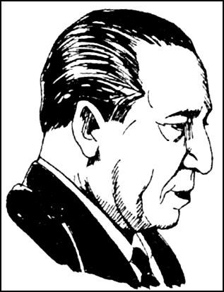 Dibujo de Francisco Morales Bermúdez de perfil
