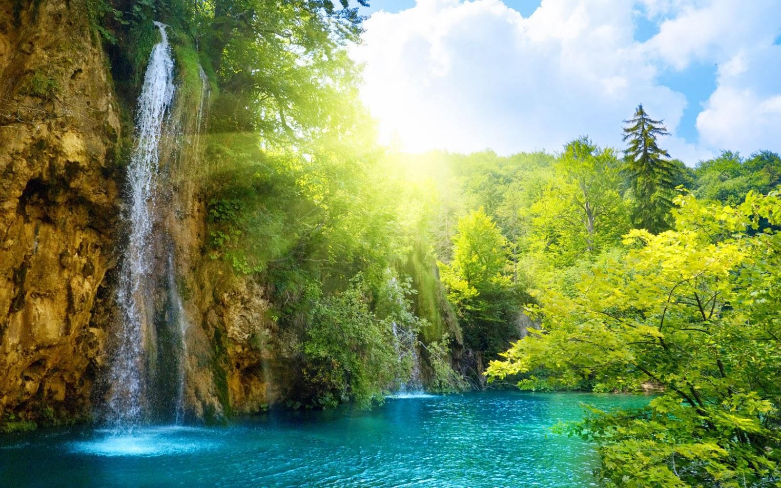 Wonderful 2013 Waterfalls Desktop Wallpaper Forest Falls Blogtes