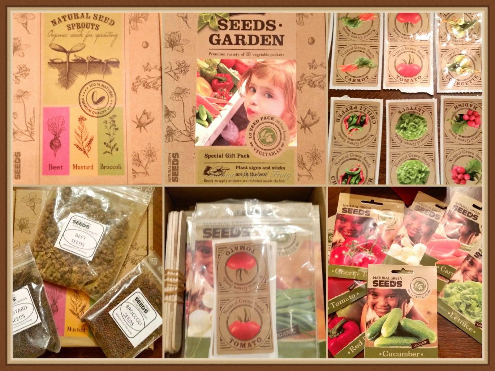 Organic Garden Seeds and Sprouting Kits
