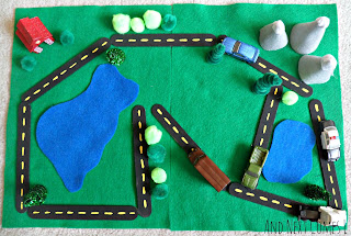 No Sew Portable Road Play Set from And Next Comes L