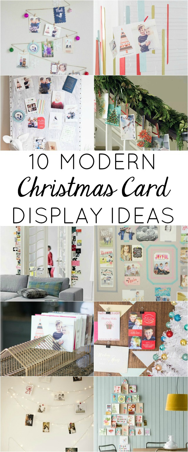 10 Modern Ways to Display Your Christmas Cards! | Design Improvised