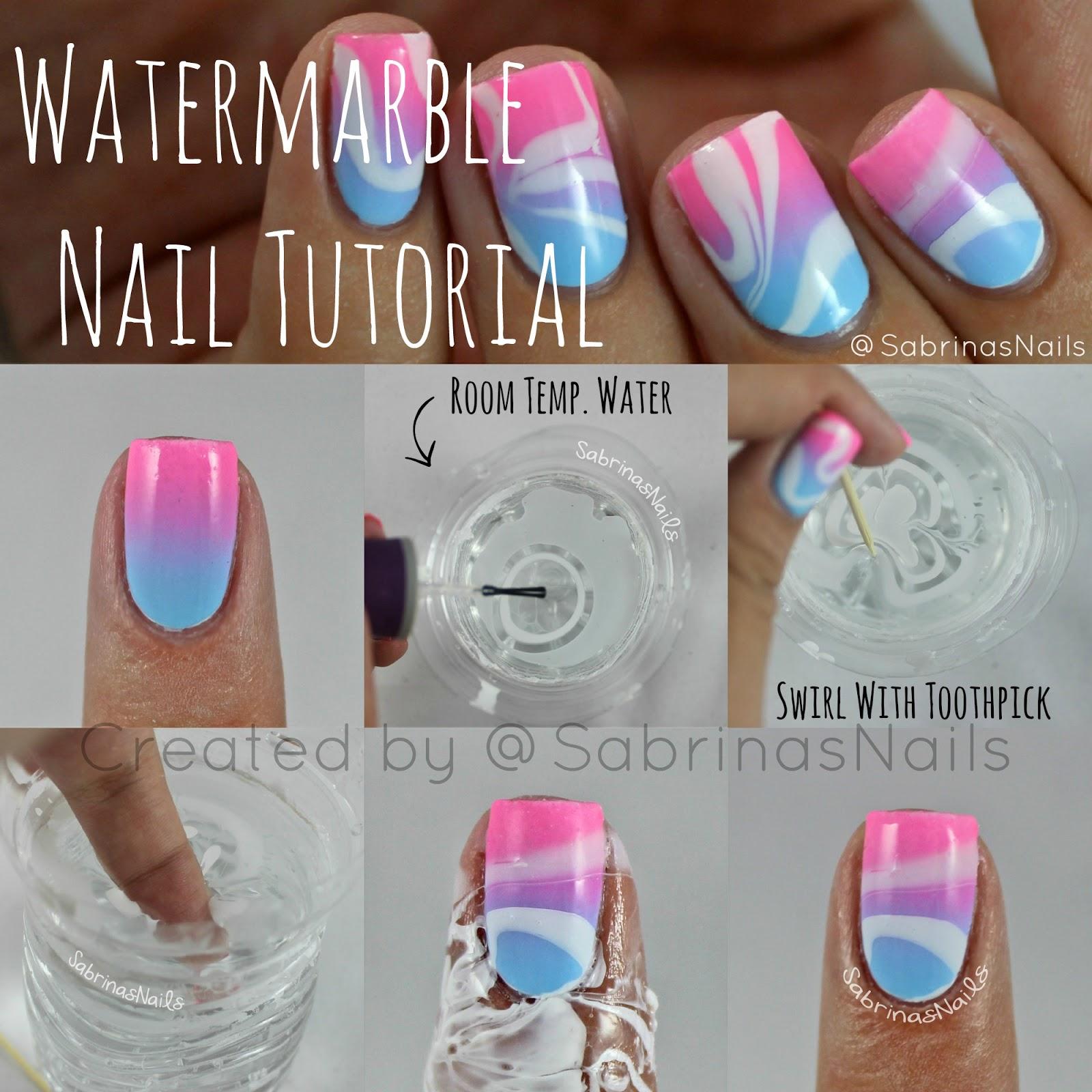Marble Nail Polish Instructions: Sabrinas Nails: Watermarble Nail Tutorial