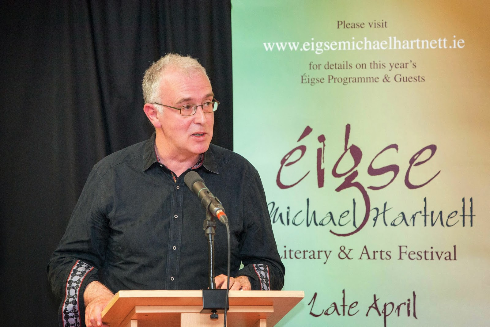 Joseph O'Connor launches Éigse Michael Hartnett