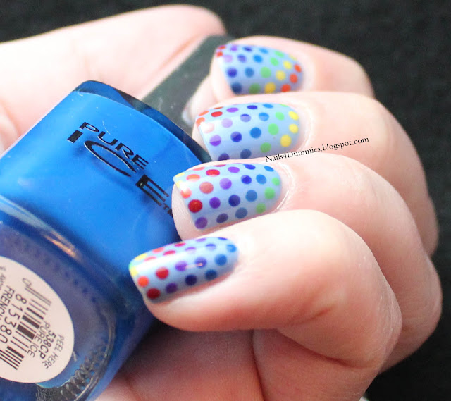 Nails4Dummies - Rainbow Dots Nails
