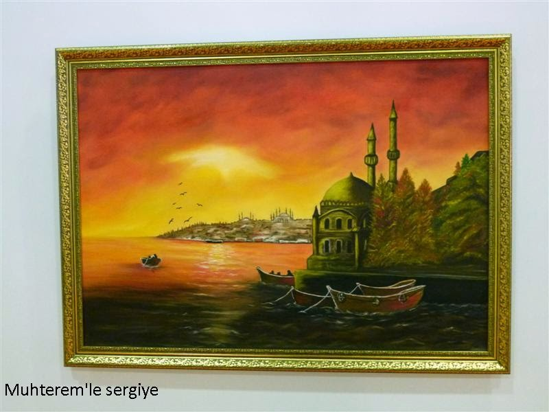 painting ortakoy mosque