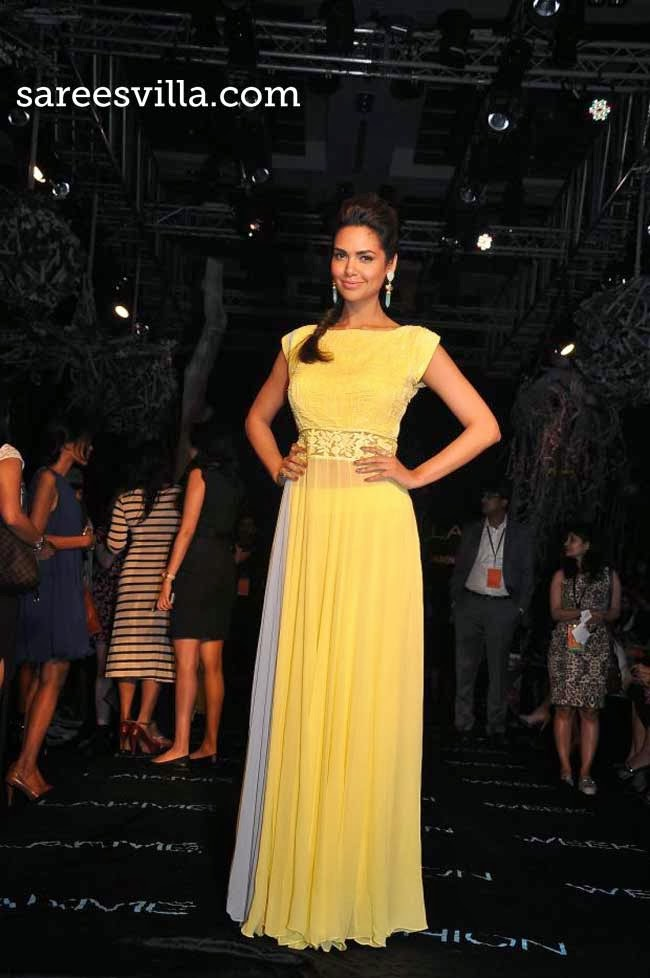 Esha Gupta at Lakme Fashion Week Summer 2014