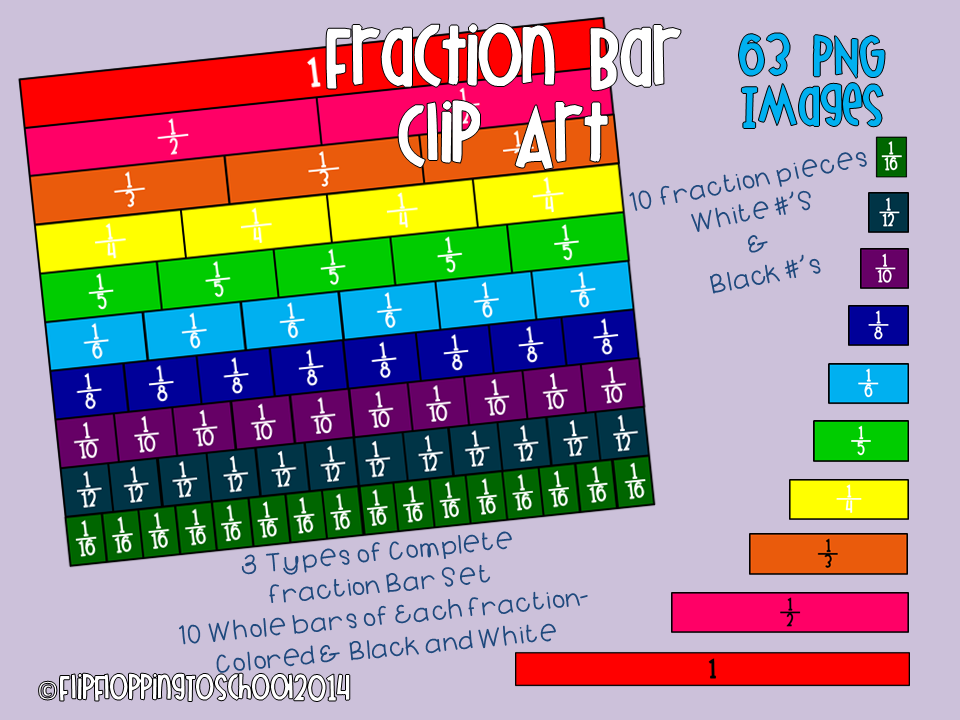 http://www.teacherspayteachers.com/Product/Fraction-Bar-Clipart-Set-for-Personal-and-Commercial-Use-1363073